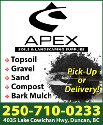 Print Ad of Apex Soils & Landscaping Supplies