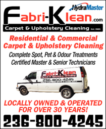 Yellow Pages Ad of Fabri-Klean Carpet & Upholstery Cleaning
