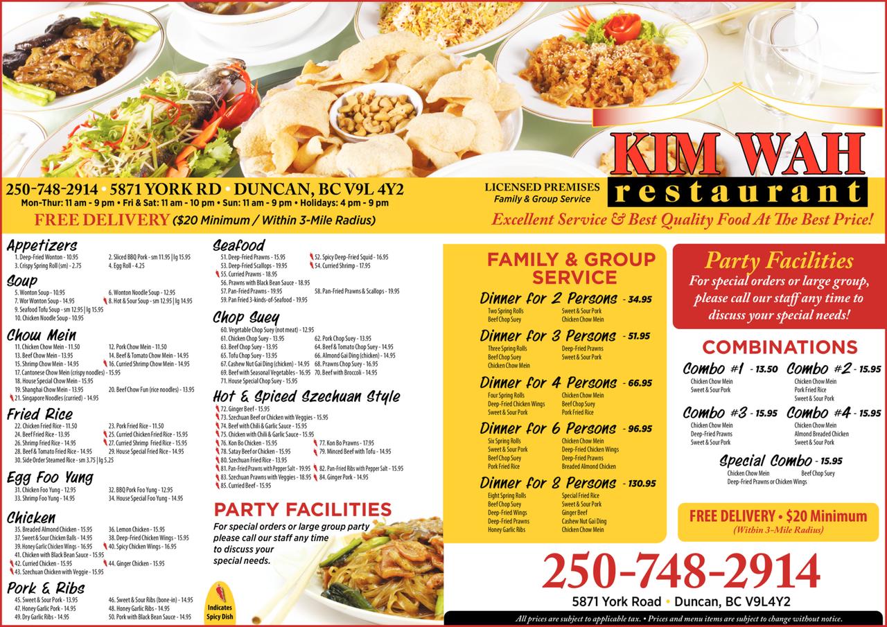 Print Ad of Kim Wah Restaurant