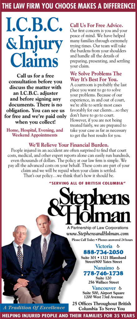 Print Ad of Stephens & Holman