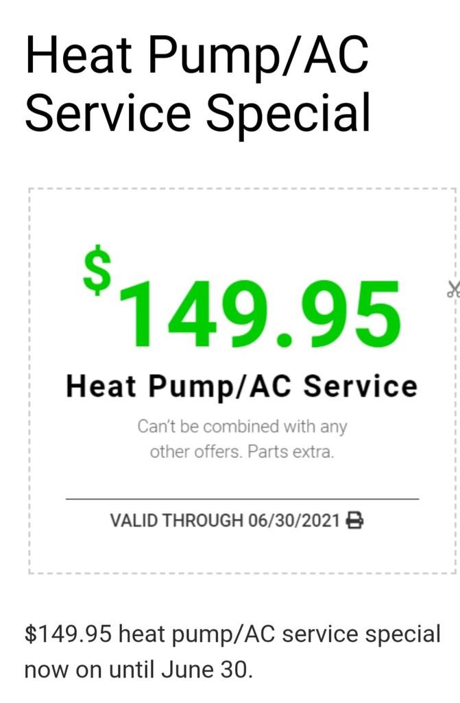 Cedar Coast Heating & Mechanical Inc special offer