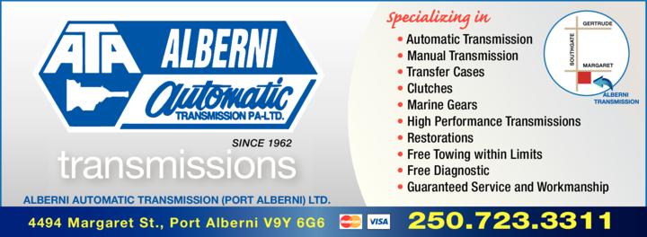 Print Ad of Alberni Automatic Transmission (Pa) Ltd