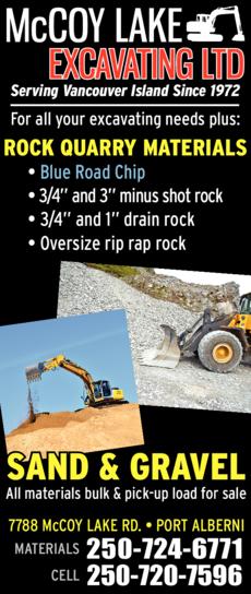 Print Ad of Mccoy Lake Excavating Ltd