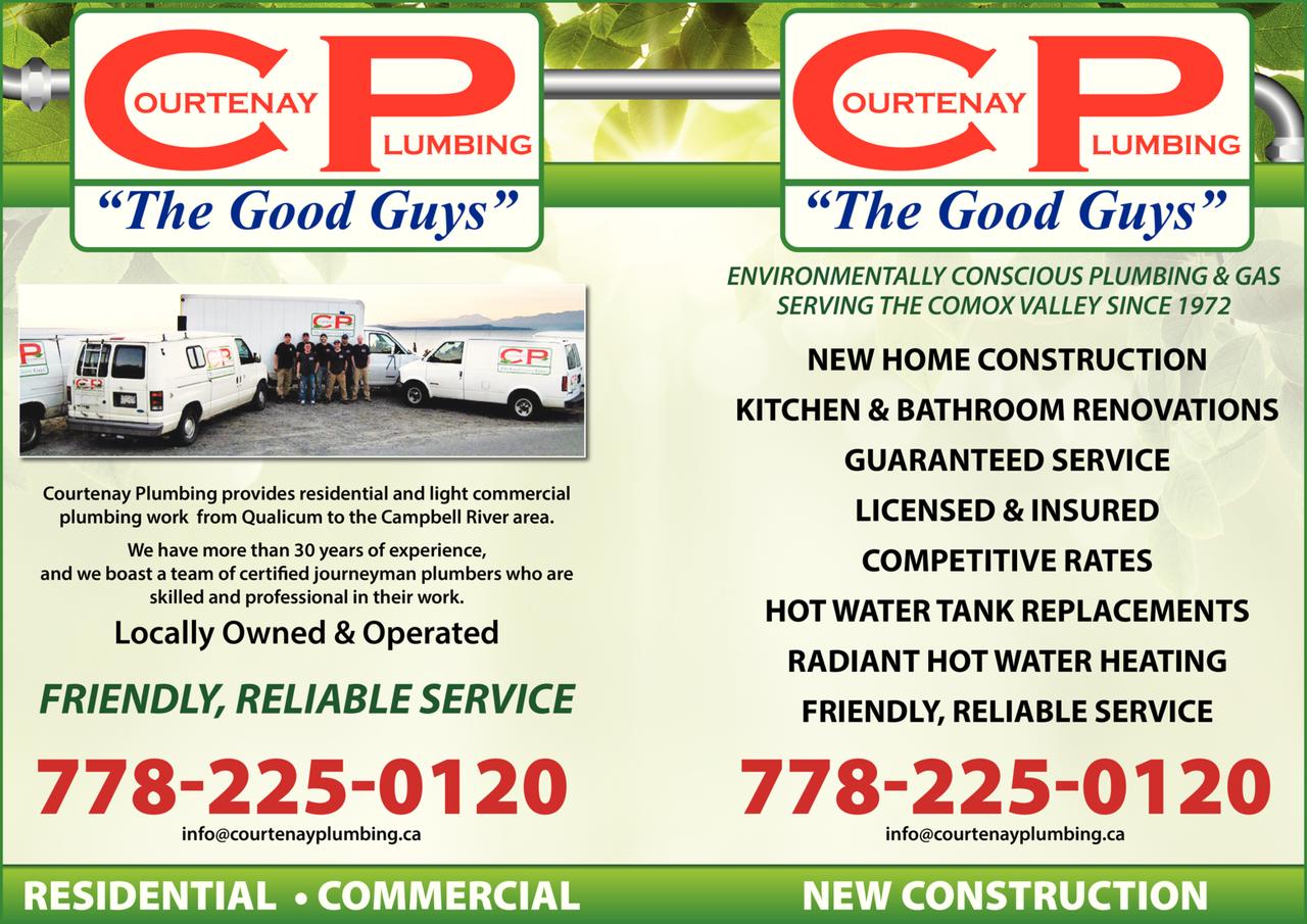 Print Ad of Courtenay Plumbing