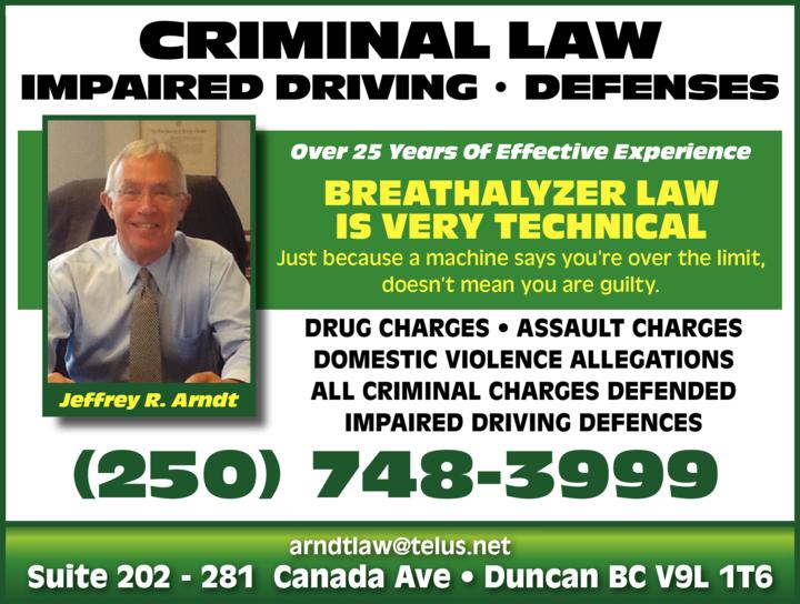 Print Ad of Arndt Jeffrey - A Law Corporation