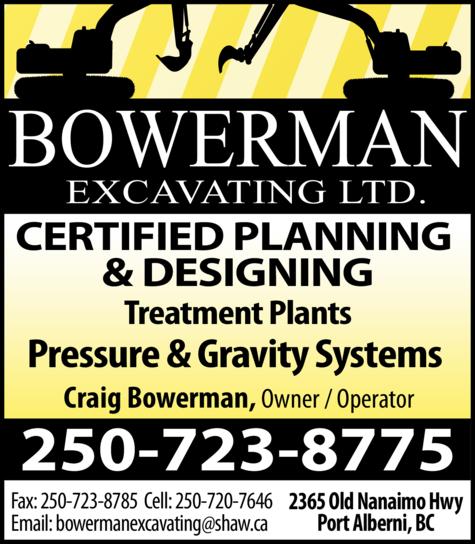 Print Ad of Bowerman Excavating Ltd