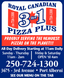 Print Ad of Royal Canadian 3 For 1 Pizza Plus