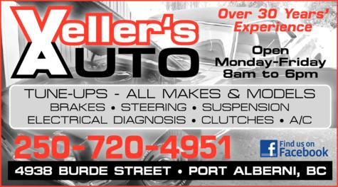 Print Ad of Veller's Auto