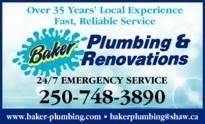 Print Ad of Baker Plumbing & Renovations