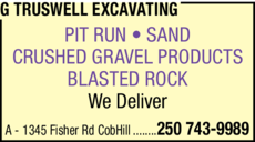 Print Ad of G Truswell Excavating