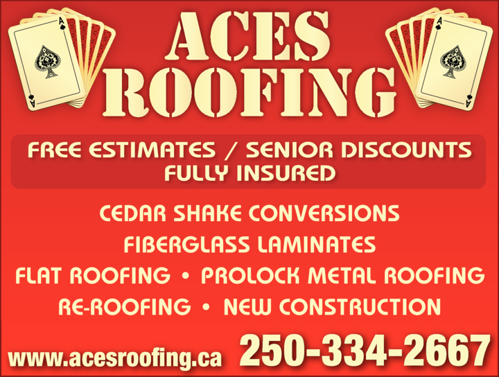Yellow Pages Ad of Aces Roofing