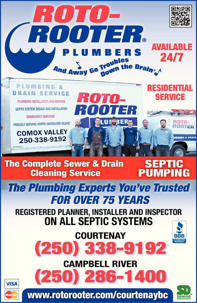 Print Ad of Roto Rooter Plumbers