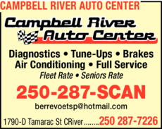 Print Ad of Campbell River Auto Center