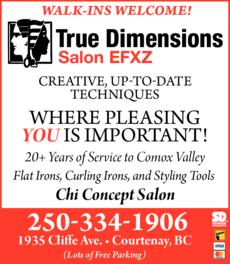 Print Ad of True Dimensions Salon Efxz