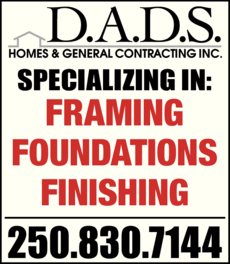 Yellow Pages Ad of Dads Homes & General Contracting Inc