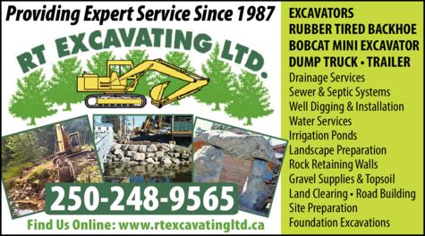 Print Ad of Rt Excavating Ltd