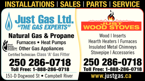 Print Ad of Just Gas Ltd