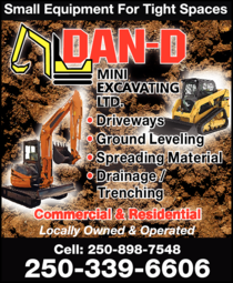 Print Ad of Dan-D Mini Excavating Ltd