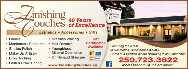 Print Ad of Finishing Touches