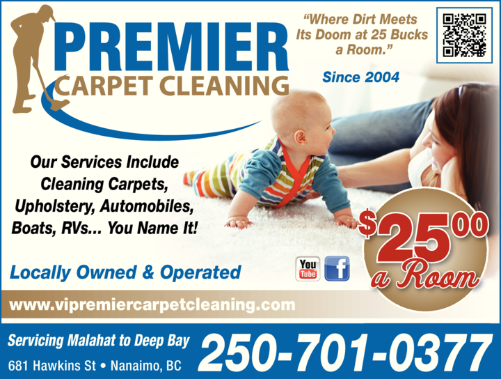 Yellow Pages Ad of Premier Carpet Cleaning
