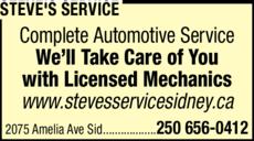 Print Ad of Steve's Service