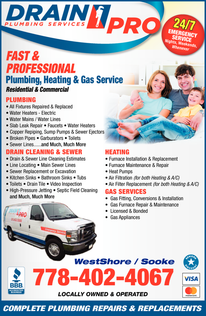 Print Ad of Drain Pro Plumbing Services