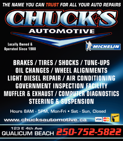 Yellow Pages Ad of Chuck's Automotive