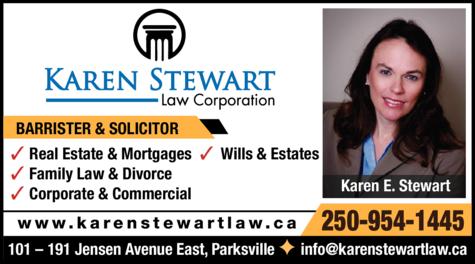 Print Ad of Karen Stewart Law Corporation